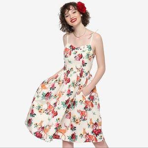 HELL BUNNY Lefox Cream Dress